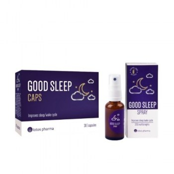 Geram miegui good sleep spray ir good sleep caps pigiau